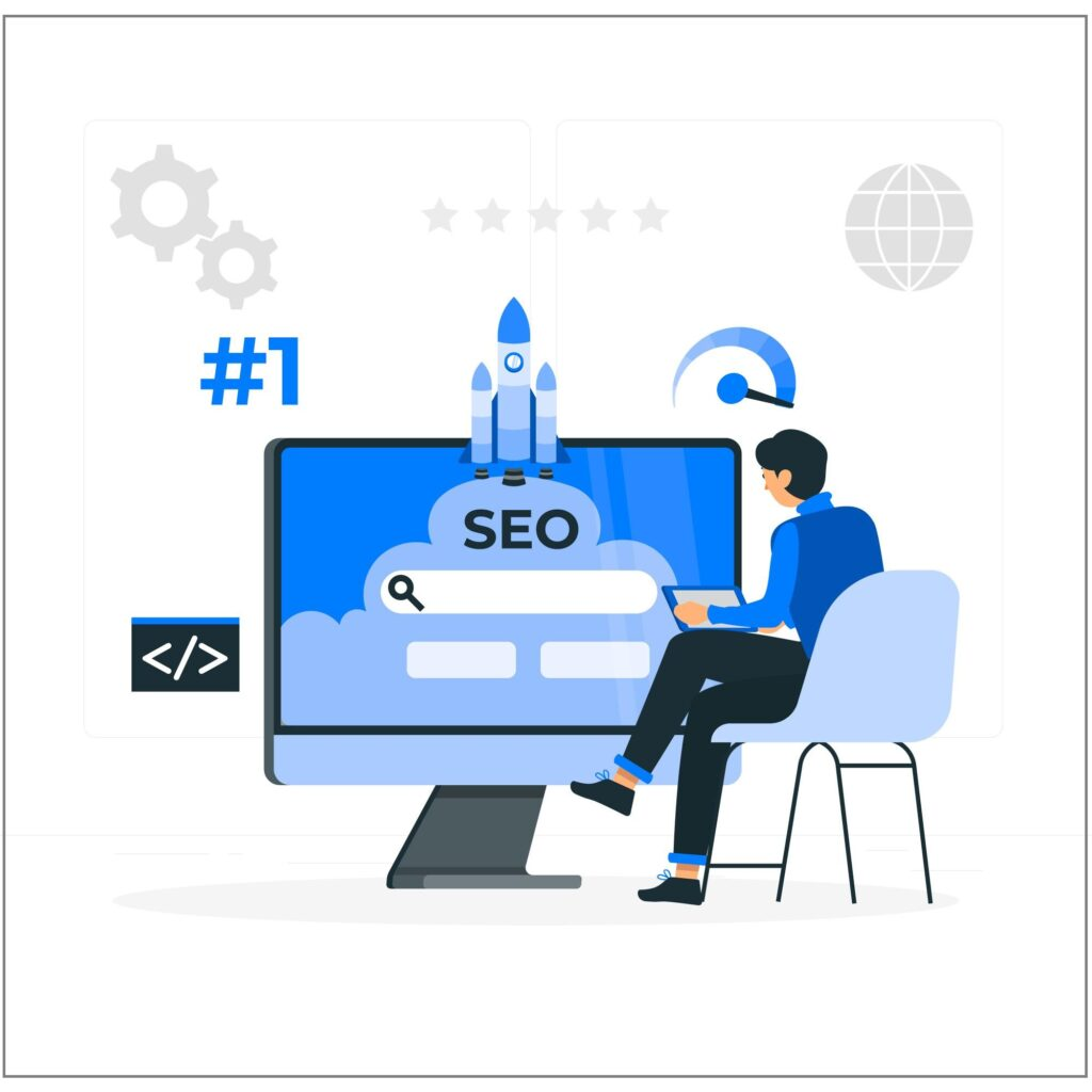 Illustrations of search engine optimization